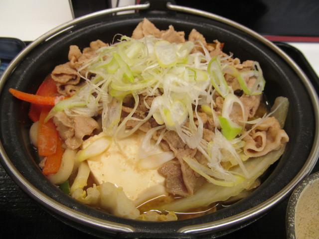 吉野家北海道豚味噌鍋膳の鍋