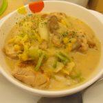 松屋鶏と白菜のクリームシチュー定食ライス大盛無料賞味サムネイル