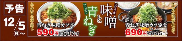かつや青ねぎ味噌カツ丼and定食予告画像640_20161203