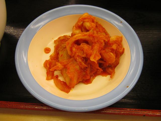 松屋プルコギ定食のキムチ
