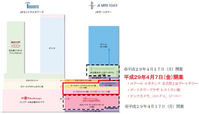 JRゲートタワーフロアマップ20161215