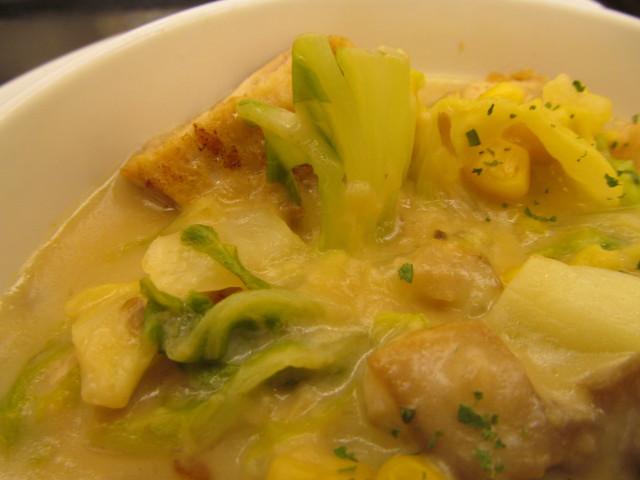 松屋鶏と白菜のクリームシチュー定食の白菜