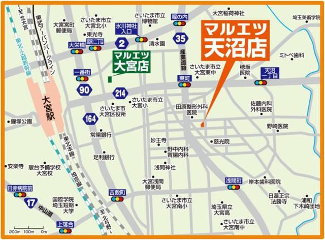 マルエツ天沼店地図