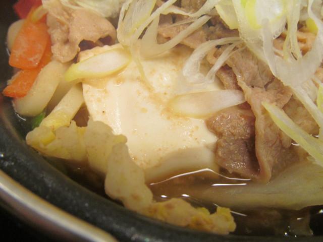 吉野家北海道豚味噌鍋膳の豆腐