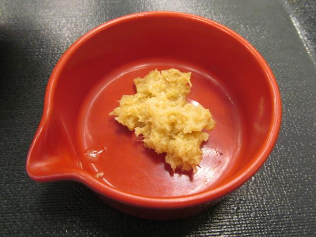 なか卯鰤丼のおろし生姜