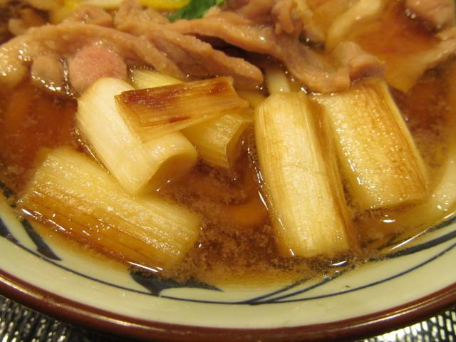 丸亀製麺鴨ねぎうどんの焼きねぎ