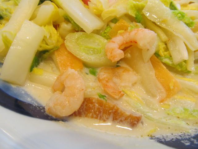 リンガーハット白菜たっぷりちゃんぽんの海老を発見