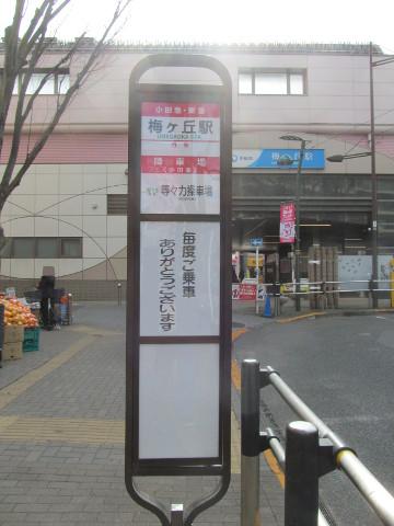 等13梅ヶ丘駅バス停ウラ20170127