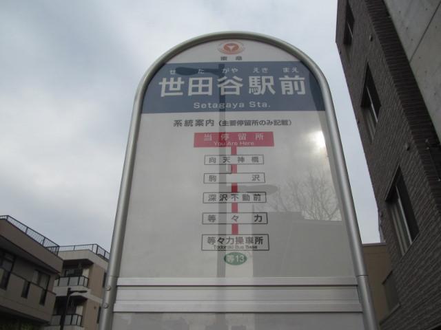 等13世田谷駅前バス停等々力方面の寄り20170127