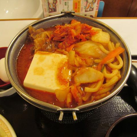 すき家豚チゲ鍋定食ごはん大盛賞味サムネイル