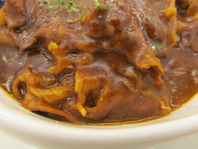 松屋ビーフシチューハンバーグ定食の牛肉