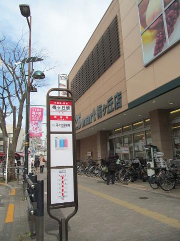 梅ヶ丘駅前の等13バス停20170127