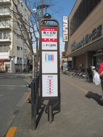 等13梅ヶ丘駅バス停オモテ20170127