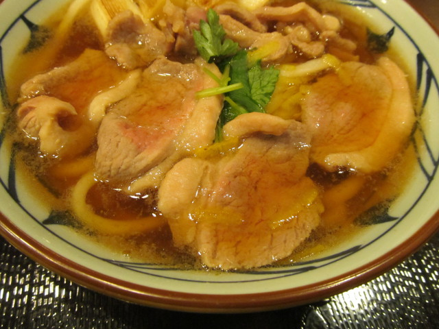 丸亀製麺鴨ねぎうどんの鴨ロース
