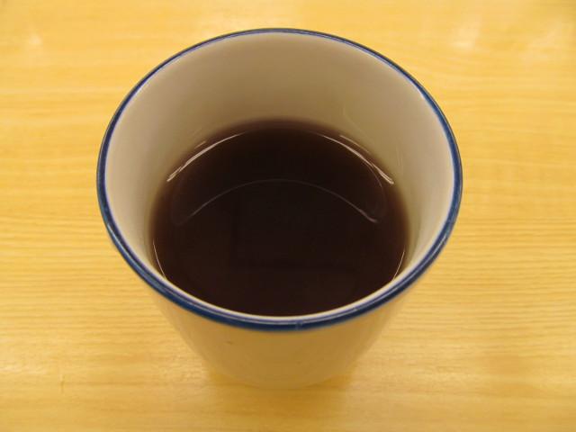松屋の温かいお茶20170124