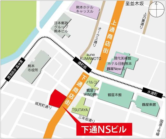 下通NSビル地図20170114