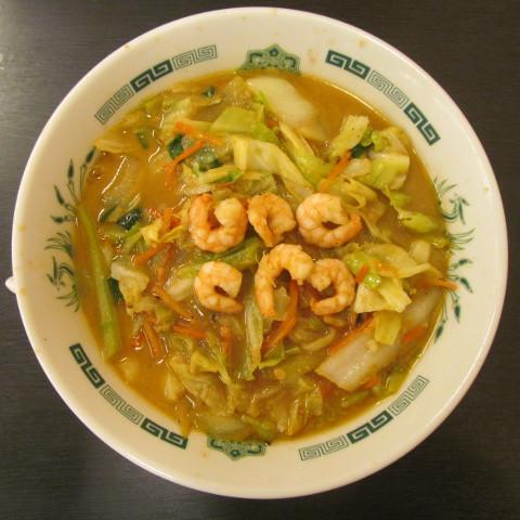 日高屋海老味噌ラーメン麺大盛賞味サムネイル