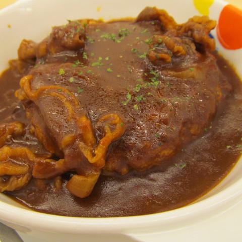 松屋ビーフシチューハンバーグ定食ライス大盛無料賞味サムネイル