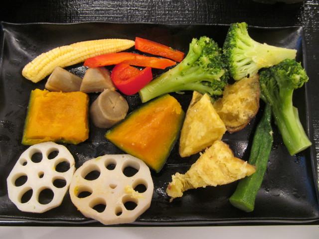 吉野家温野菜定食の温野菜たちを整列