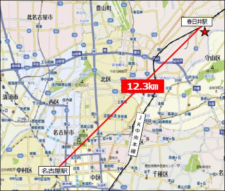 JR春日井駅南東地区開発地図20170224