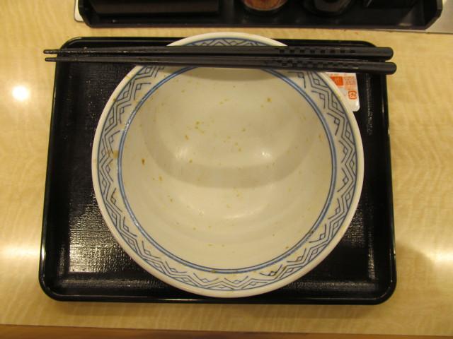吉野家牛カルビ生姜焼き丼を完食