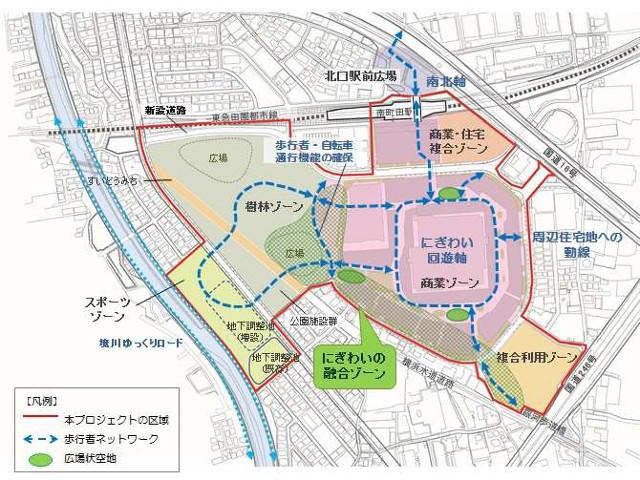 南町田拠点創出プロジェクト整備イメージ20170218