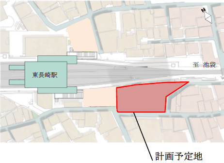 東長崎駅南口計画仮称予定地20170214