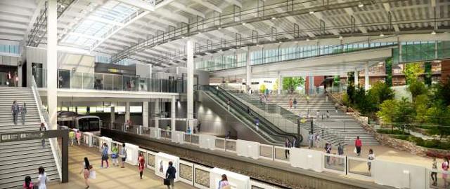南町田駅リニューアル後の駅構内イメージ20170218