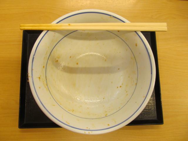 かつややみつきスパイスのチキンカツ丼ご飯大盛を完食