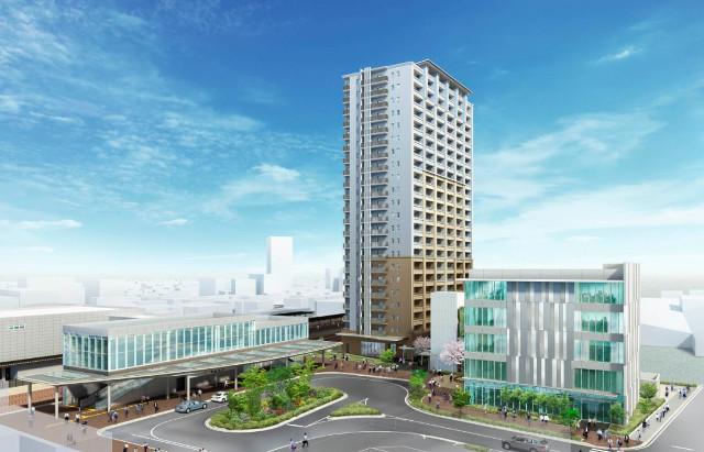 JR春日井駅南東地区開発完成イメージ20170224