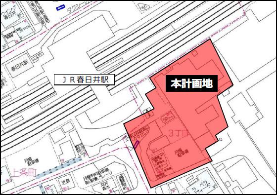 JR春日井駅南東地区開発計画地周辺地図20170224