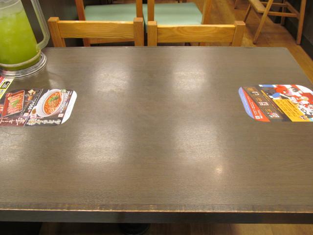なか卯テーブル上のステッカー20170208