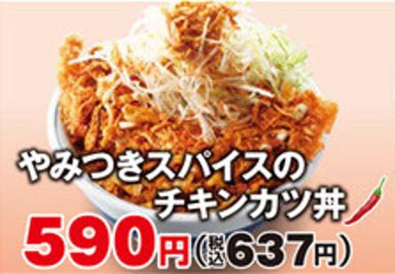 かつややみつきスパイスのチキンカツ丼商品画像拡大20170210