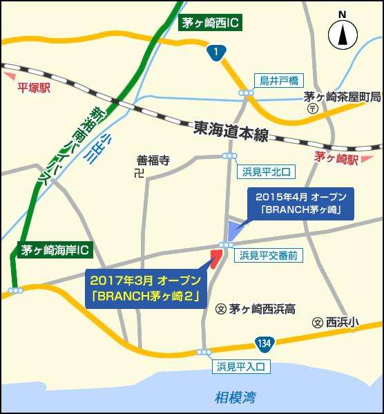 ブランチ茅ヶ崎2地図