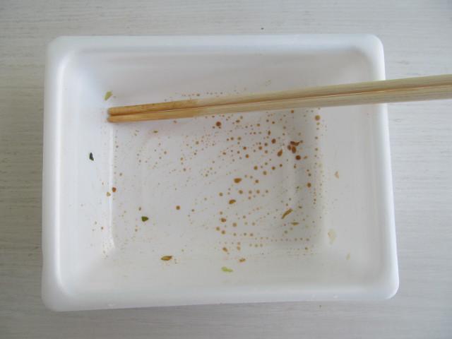 ペヤングソースやきそばプラス納豆を完食