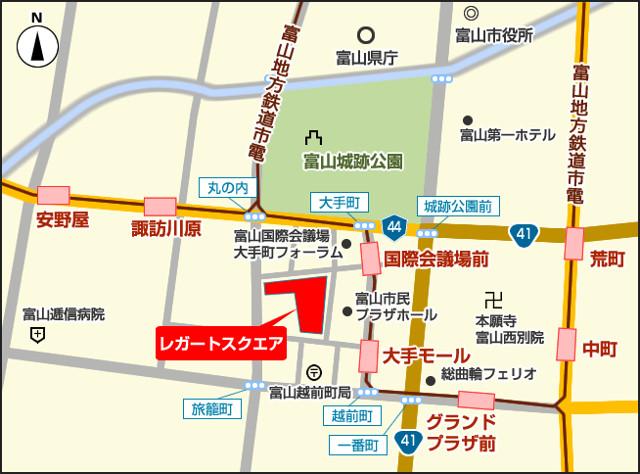 総曲輪レガートスクエア地図