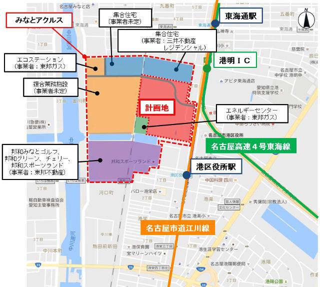 ららぽーと名古屋港明仮称計画地周辺地図20170330