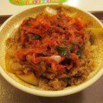 すき家ねぎキムチ牛丼大盛賞味サムネイル