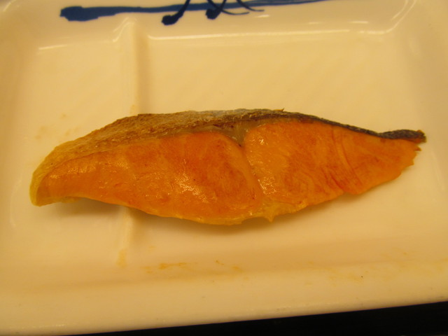 松屋焼鮭定食の焼鮭20170307