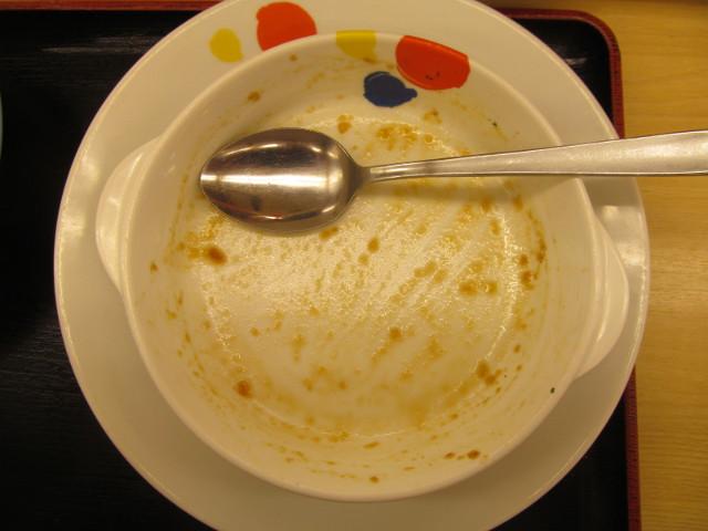 松屋チキングリル定食2017のソースとライスを完食