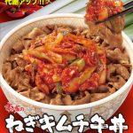 すき家ねぎキムチ牛丼販売開始サムネイル