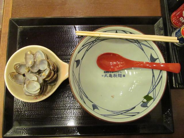 丸亀製麺春のあさりうどんを完食完飲