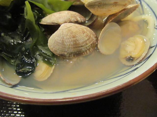丸亀製麺春のあさりうどんの汁