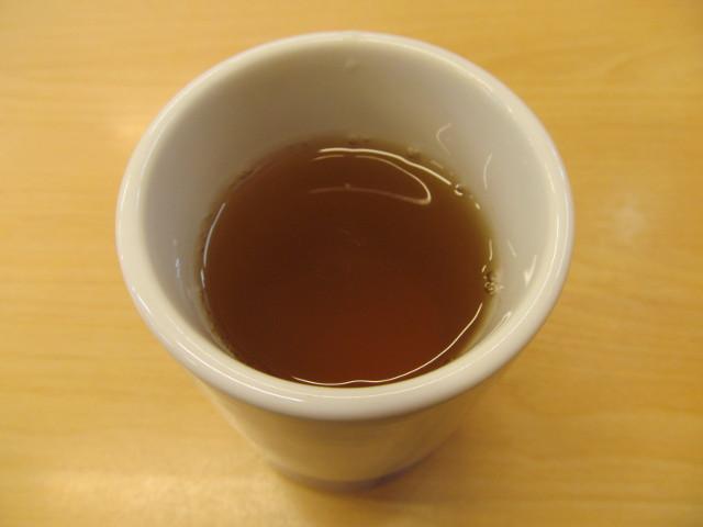 かつやの冷たいお茶20170317