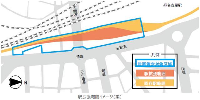 名鉄名古屋駅拡張イメージ案20170330