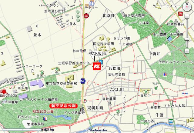ケーズデンキ所沢店地図