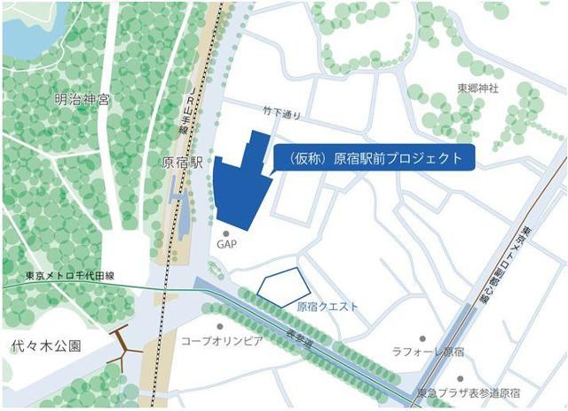 原宿駅前プジェクト位置図20170306