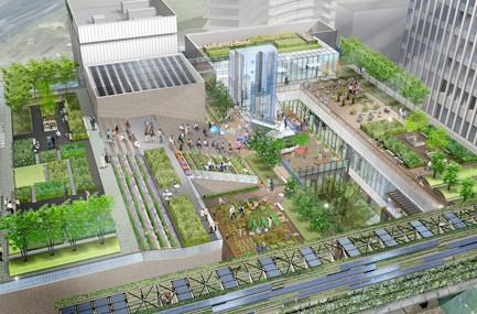 グローバルゲート商業施設屋上庭園イメージ20170330