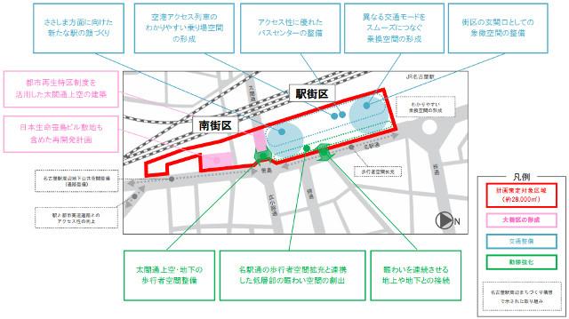 名鉄名古屋駅地区再開発整備イメージ20150323
