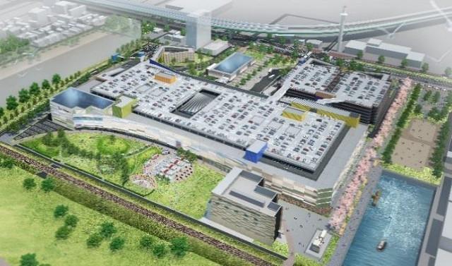 ららぽーと名古屋港明仮称鳥瞰イメージ20170330